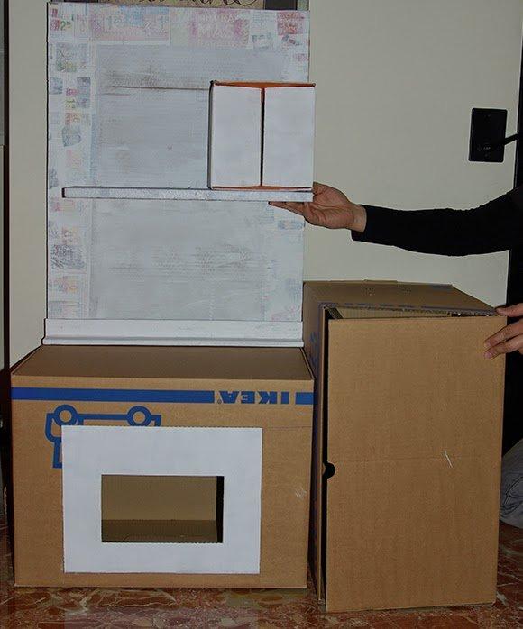 как сделать кухню из картона