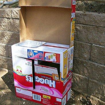 кухня из картона для девочки