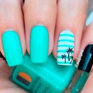 ногти пальмы