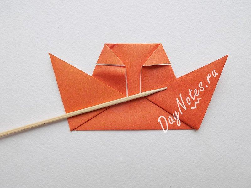 оригами из бумаги птичка