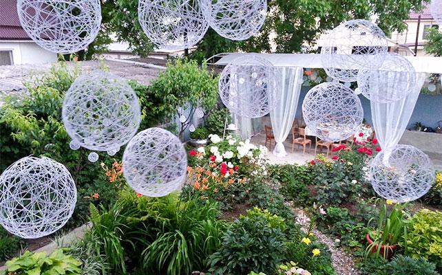 шары из ниток для декора