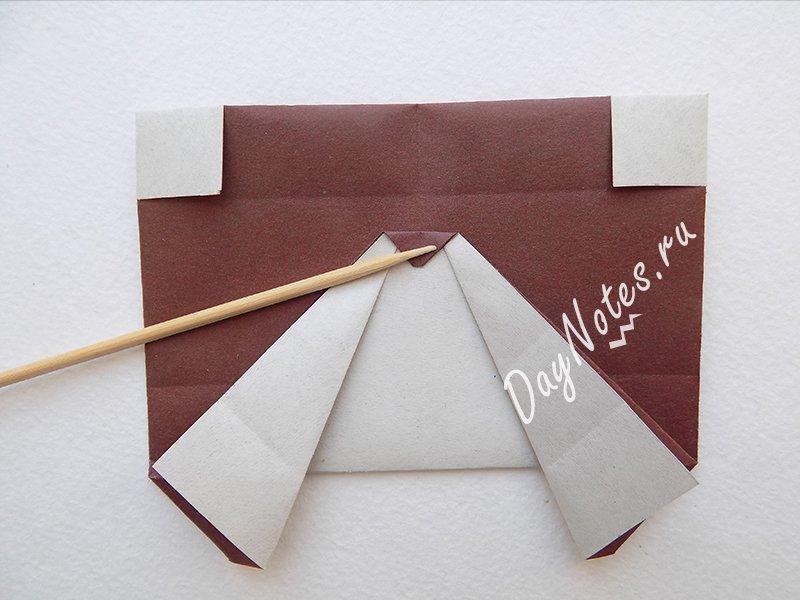птичка из бумаги поэтапно