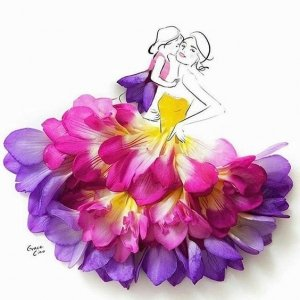 картина из цветов
