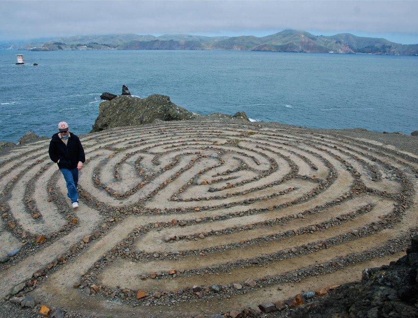 лабиринт из песка