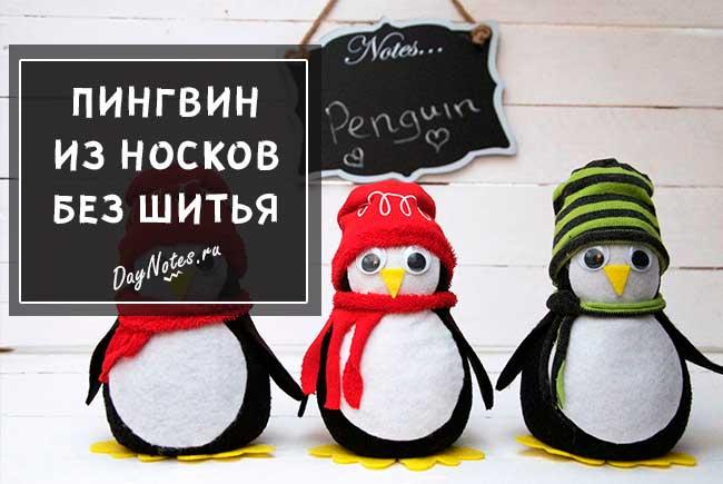 пингвин из носка мастер класс