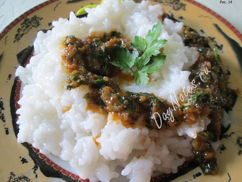 рис с соусом из помидор