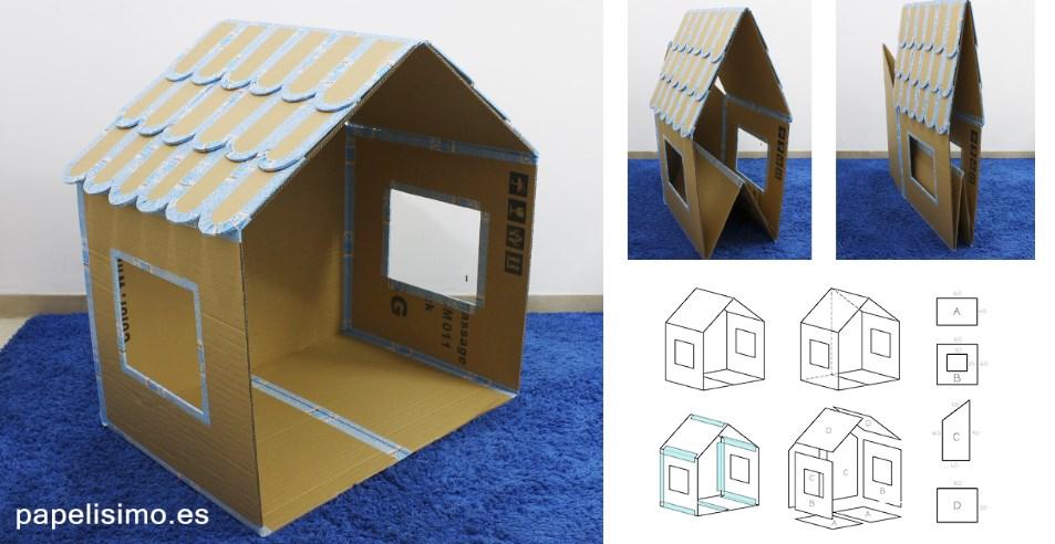 дом из картона для ребенка