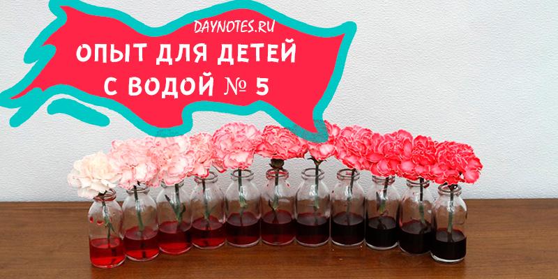 эксперименты с водой для детей