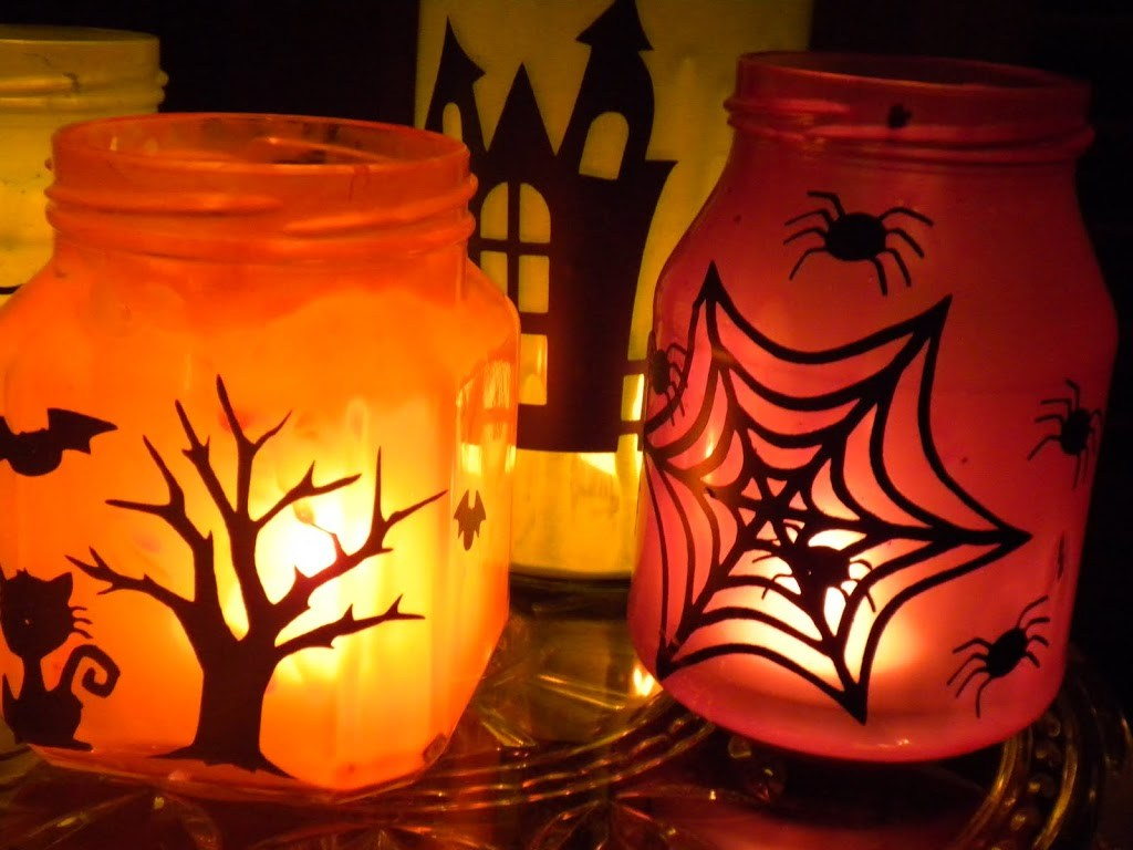подсвечник на хеллоуин
