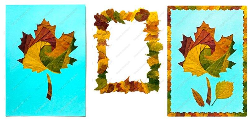 Айрис-фолдинг из осенних листьев