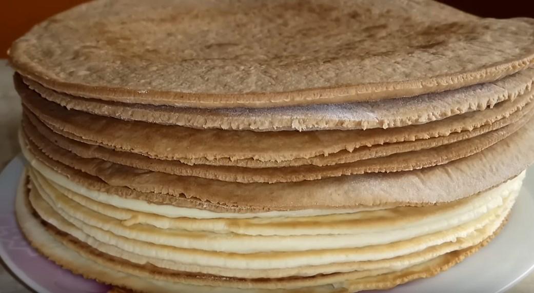коржи для торта на сковороде