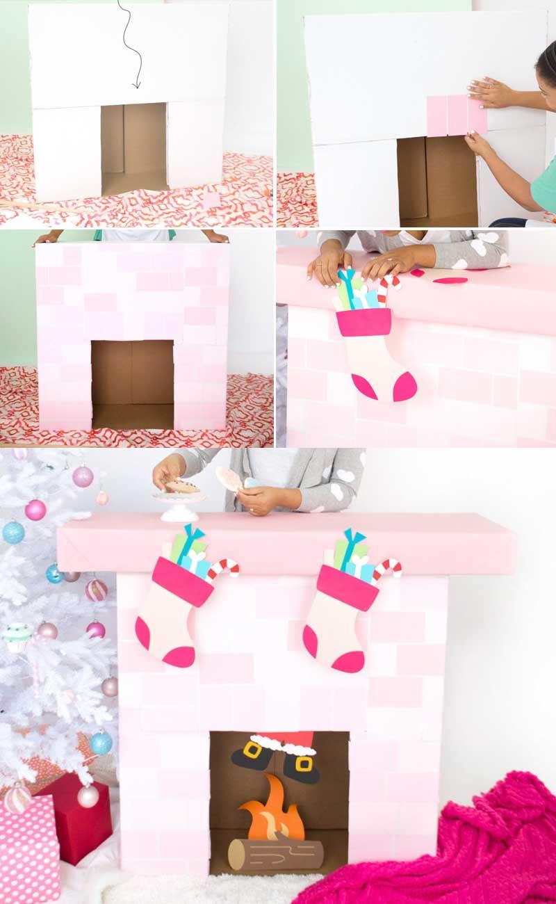 Как сделать камин из картона своими руками - пошаговая инструкция