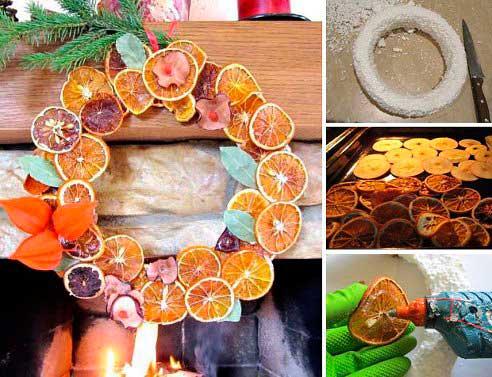 Венок из сушеных апельсин