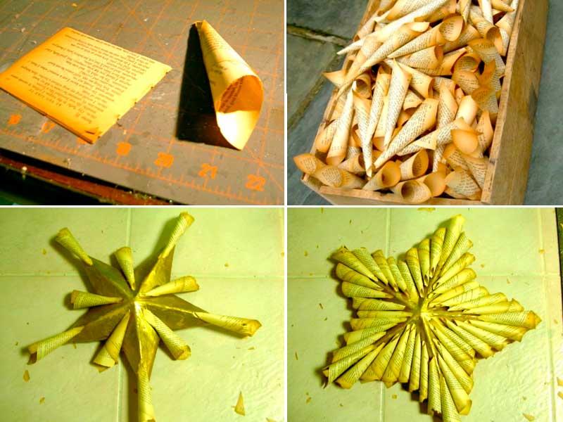 zvezda14 Как сделать объёмную звезду из бумаги и картона своими руками. Шаблоны и схема для объемной звезды своими руками. Как сделать объемную звезду в технике оригами