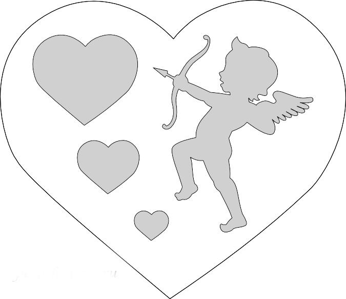 валентинка шаблоны смотрели