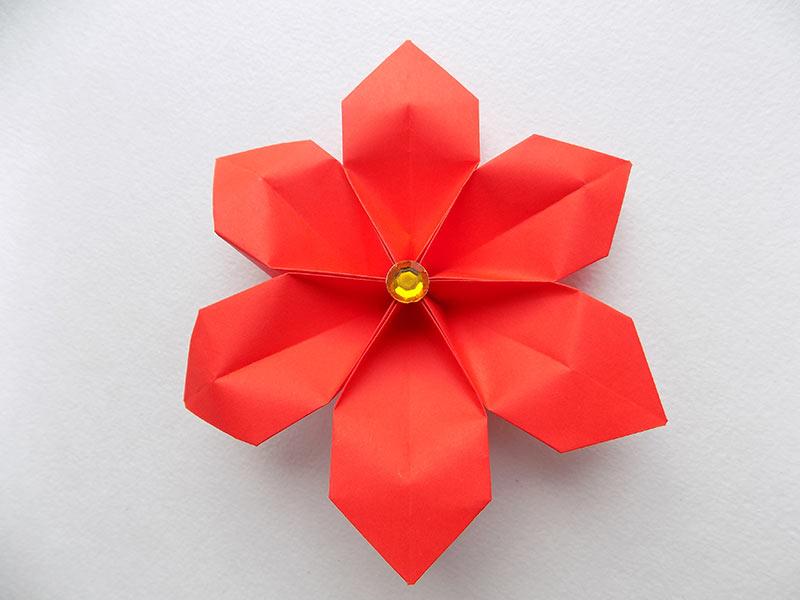 цветок из бумаги своими руками для детей