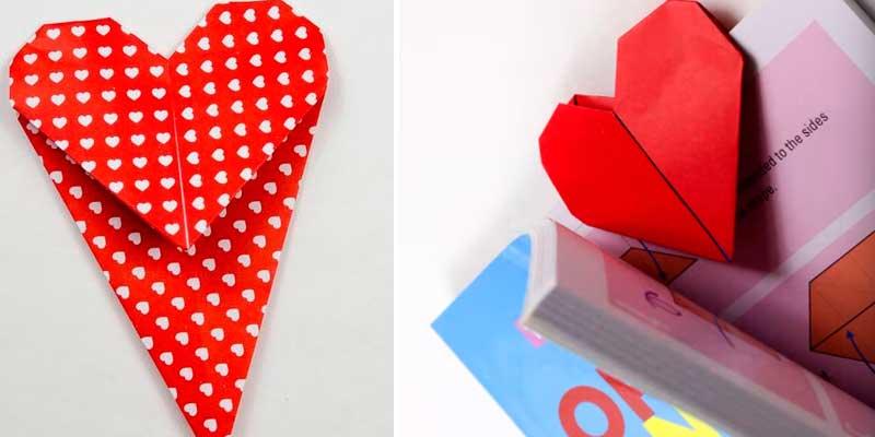 серце оригами день валентина