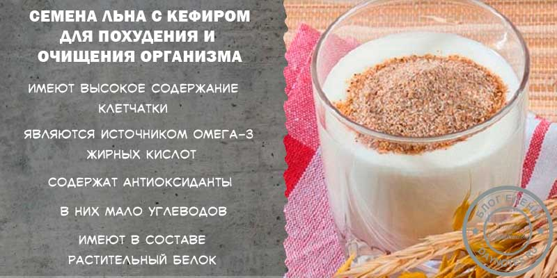 диета для похудения на семени льна