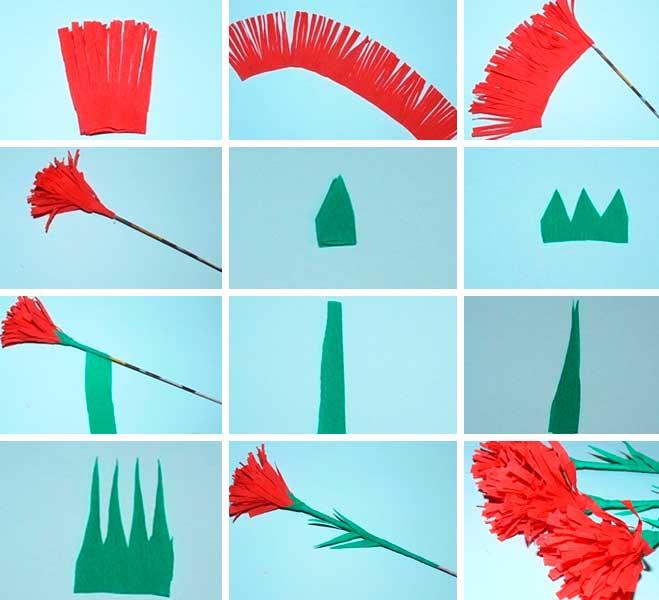 новаторский как сделать гвоздику из салфетки для открытки минобороны отметили