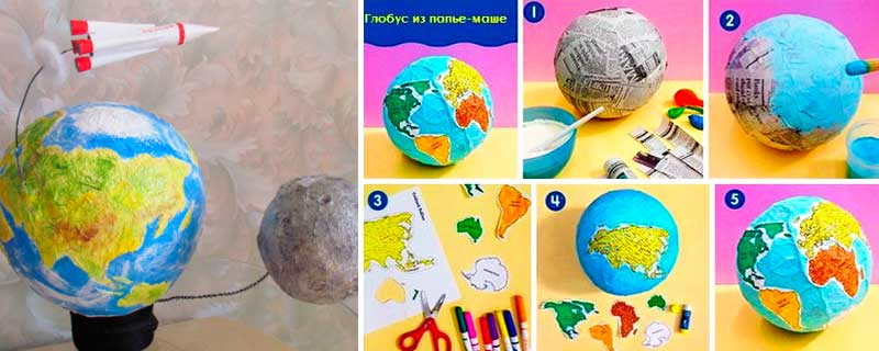 Поделки в детский сад на день космонавтики