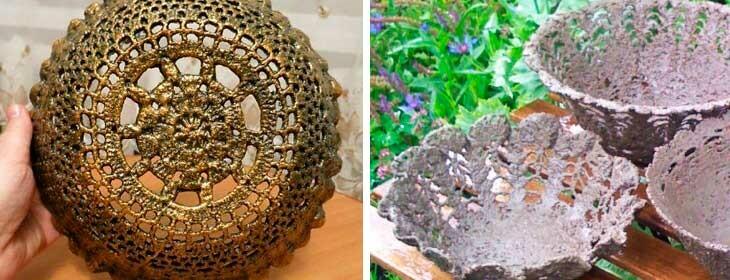 Все новинки поделок для сада из цемента своими руками — садовый декор и украшения