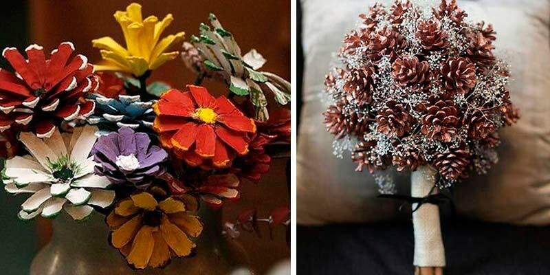 Осенние поделки из шишек своими руками для школы и детского сада