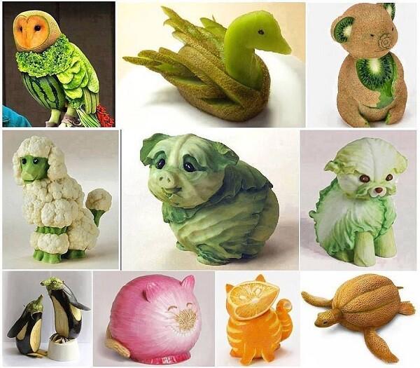 Поделки из овощей и фруктов своими руками для детского сада и выставки