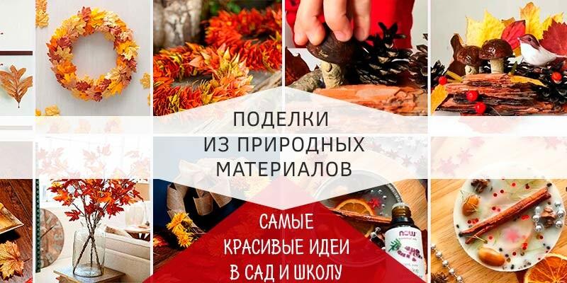 Поделки из природного материала на тему осень для детского сада и школы