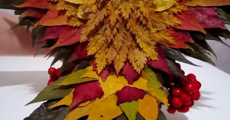 Осенние поделки из природного материала для школы