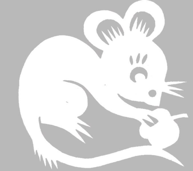 Поделка из бумаги вырезать крысу шаблон