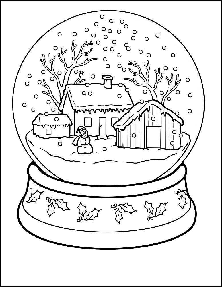 Картинки с зимней тематикой для срисовки