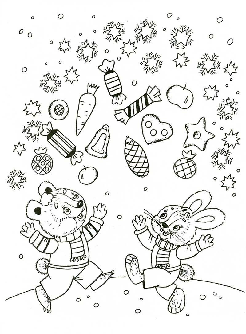 Новогодние раскраски для детей 2020, которые можно ...