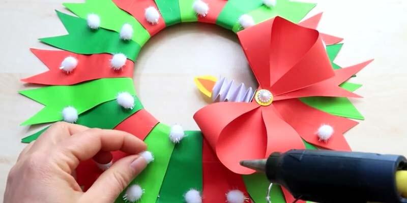 Новый год поделки из цветной офисной бумаги