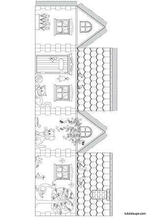 Домики из бумаги — шаблоны для вырезания