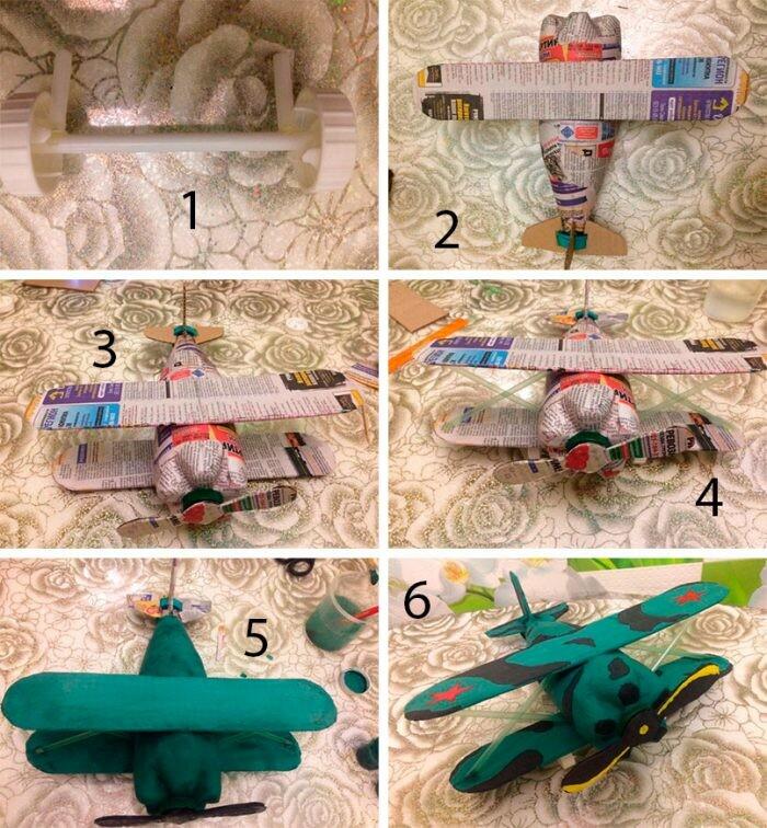 Самолеты из пластиковых бутылок своими руками