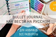 bullet journal для новичков или как стать организованным