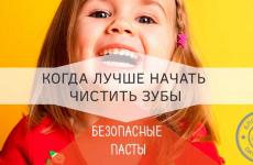 Когда начинать чистить зубы и почему они портяться