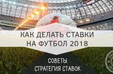 Стратегия ставок на чемпионат мира по футболу 2018