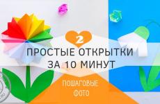 2 красивые открытки на 8 марта за 10 минут