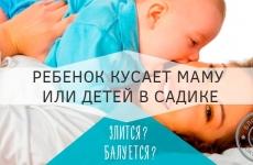 Почему ребенок кусается и как отучить