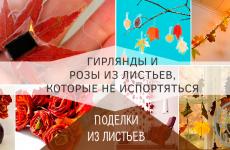 Как сделать поделки из осенних листьев, которые не испортяться