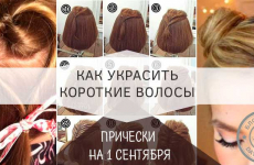 Прически на 1 сентября на короткие волосы от 1 до 11 класса