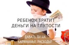 Что делать, если ребенок тратит деньги на глупости