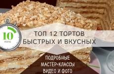 Торт на быструю руку в домашних условиях — 12 рецептов. Пошаговый рецепт торта на сковороде
