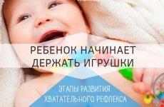 Во сколько месяцев ребенок должен уметь держать игрушки