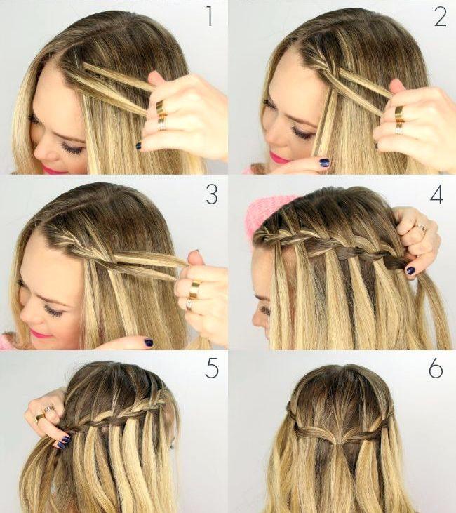 Косы плетение на средние волосы детям