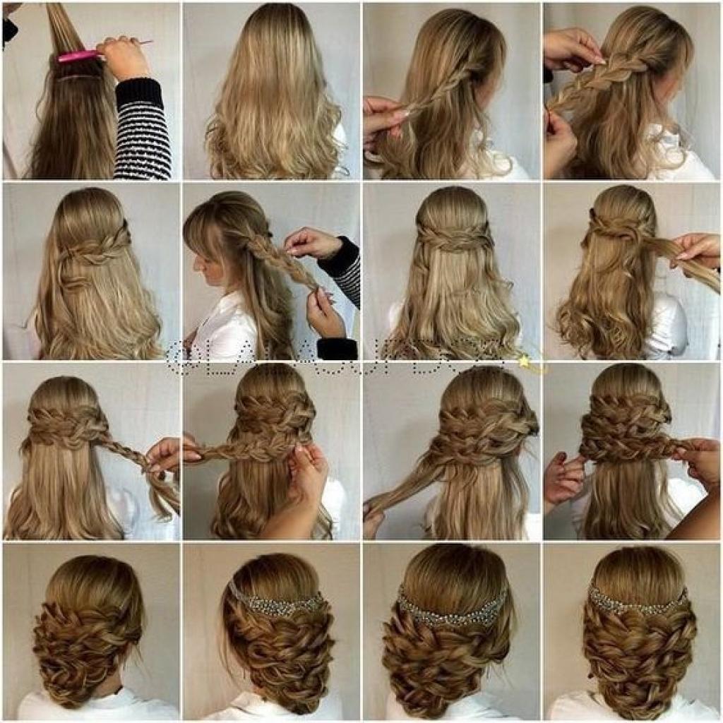 Пошаговое причесок на средние волосы из косичек